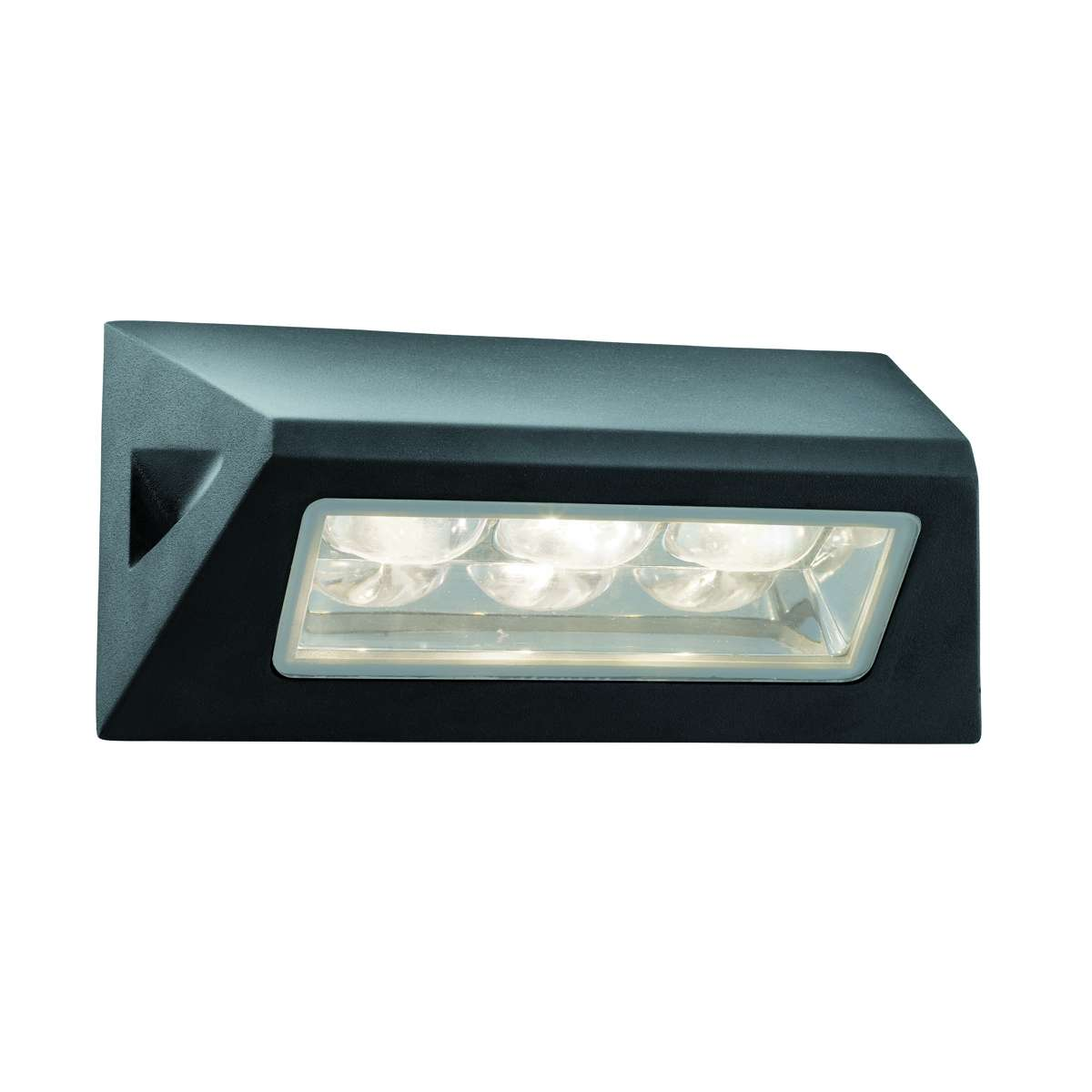 Ip44 3led Outdoor Oblong Wall Light