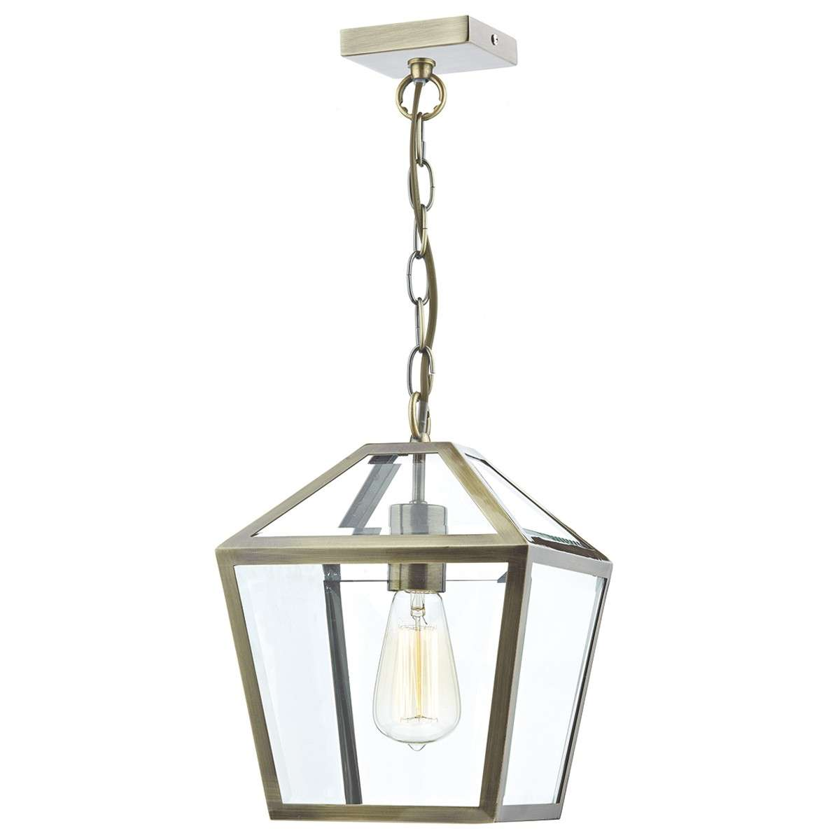 Dar Lighting Chu0175 Churchill 1 Light Pendant Antique Brass Outside Lights