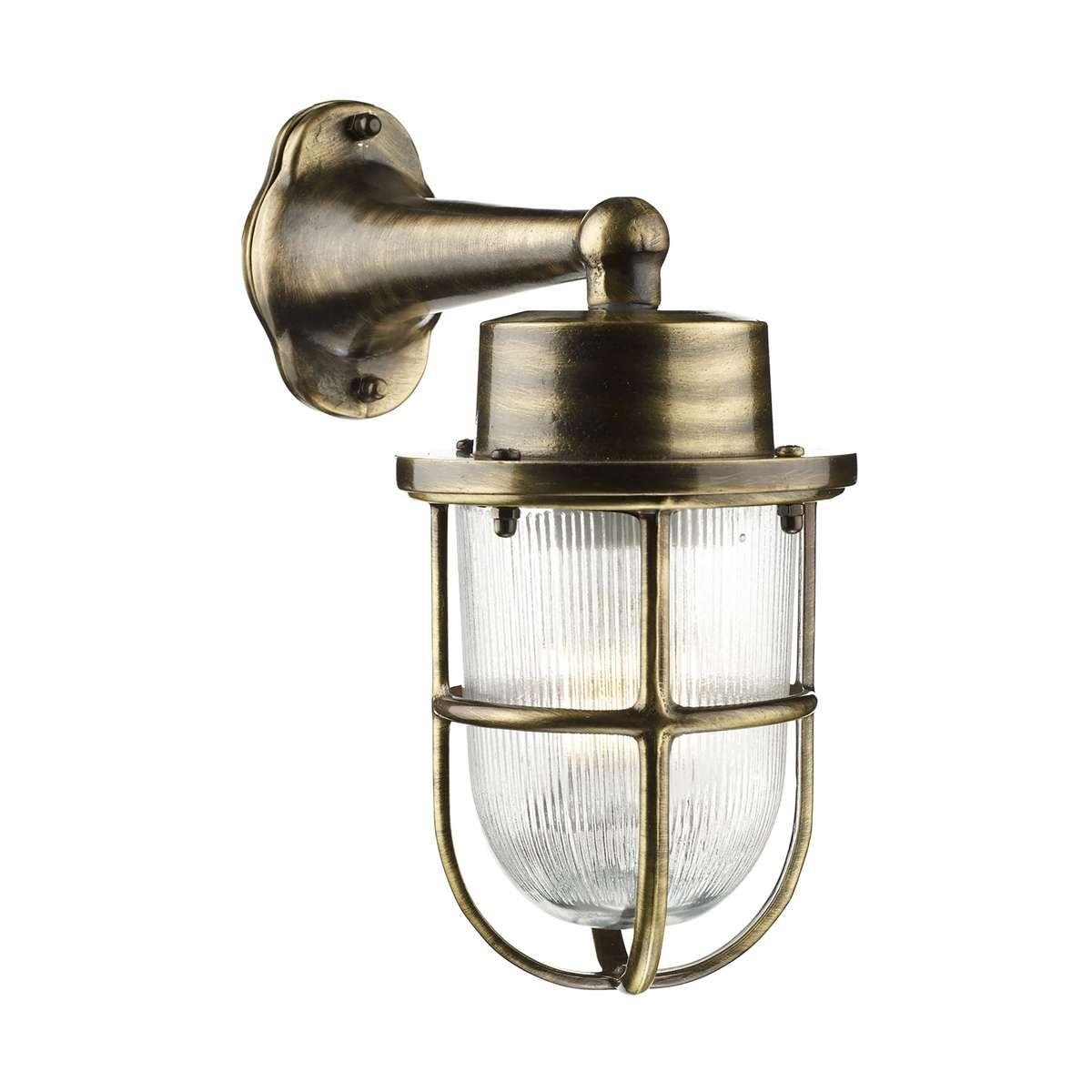 david hunt lighting har1575 harbour outdoor wall light antique brass