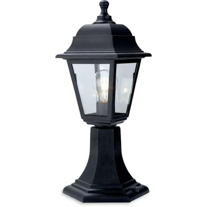 Outdoor Post Lights Ireland: Firstlight 8347BK Oslo Traditional Black Pillar Top Coach